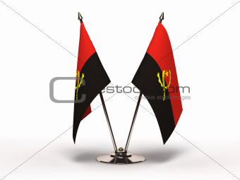 Miniature Flag of Angola (Isolated)