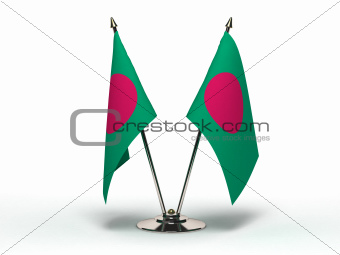 Miniature Flag of Bangladesh (Isolated)