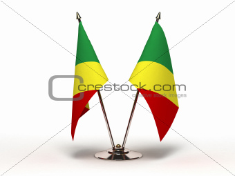 Miniature Flag of Congo (Isolated)
