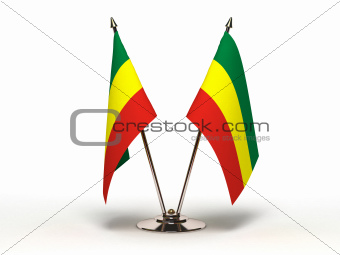 Miniature Flag of Ethiopia (Isolated)