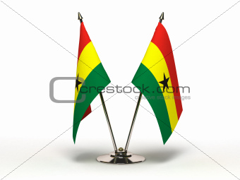 Miniature Flag of Ghana (Isolated)