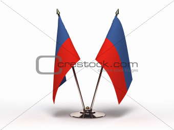 Miniature Flag of Haiti (Isolated)