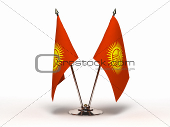 Miniature Flag of Kyrgyzstan (Isolated)