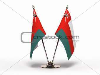 Miniature Flag of Oman (Isolated)