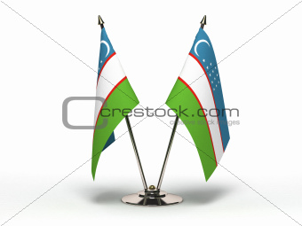 Miniature Flag of Uzbekistan (Isolated)