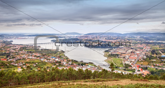 Estuary Ferrol in Spain