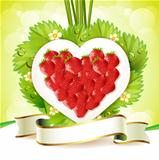 Heart of strawberry