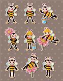 cartoon bee boy stickers