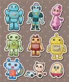 cartoon robot sticers