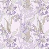 Graphic flowers seamless