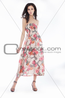 Style and elegancy - stylish female posing