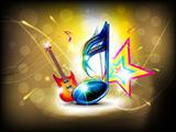 abstract glossy musical background
