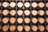 Wine barrels in stack