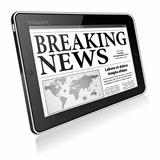 Concept - Digital Breaking News