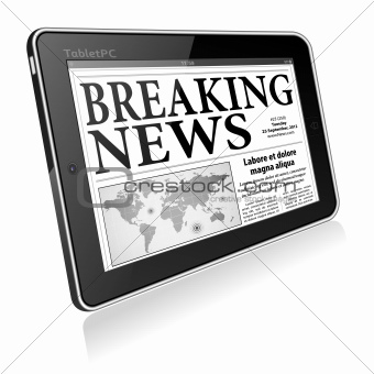 Concept - Digital Breaking News