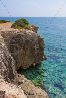 Cliff on Arenella, Siracusa
