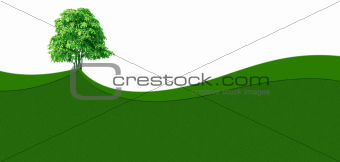 Green grass wave background