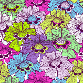 Seamless floral spotty pattern