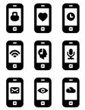 Vector phone with icons