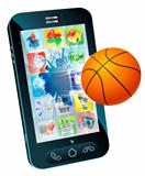 Basketball ball cell phone