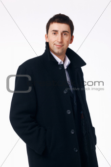 Businessman in the Black Coat.