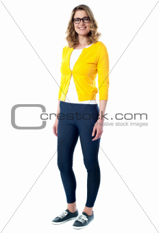 Beautiful fashionable glamour girl standing