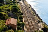 Railway Station in the Village of Corniglia, Cinque Terre, Italy
