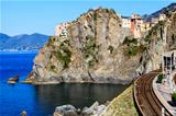 Railway Station in the Village of Manarola, Cinque Terre, Italy