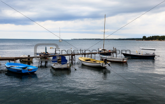 Fishing Boats in Porec, Croatia