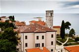 Panoramic View on Monastery Tower in Porec, Croatia