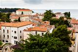 Panoramic View on Old Town of Porec in Croatia
