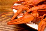 crawfish on a plate
