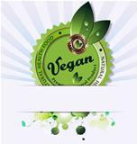 Vegan background illustration