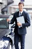 Seller with car keys