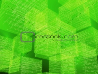 green matrix cubes