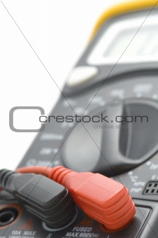 Digital multimeter close up