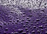 rain drops on metallic surface