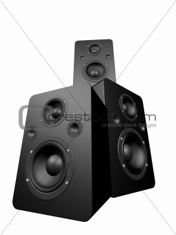 black speakers