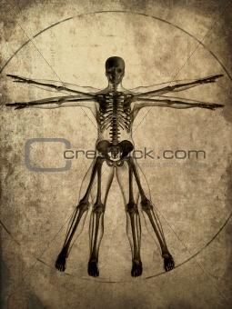 grunge skeleton