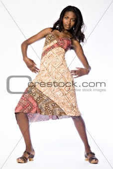 African model showing of her dress