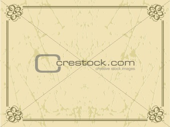 frame background with flower cone in border