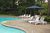 Poolside deck chairs