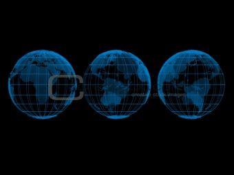 transparent globe models