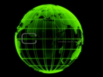 transparent globe model