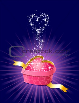 gift with love and magic / vector