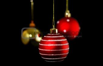 Christmas balls black