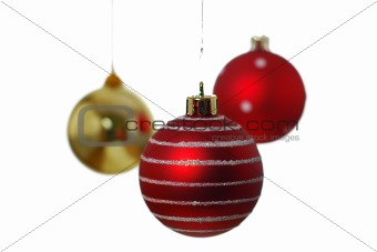 Christmas balls white