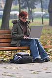 Outdoor computer work