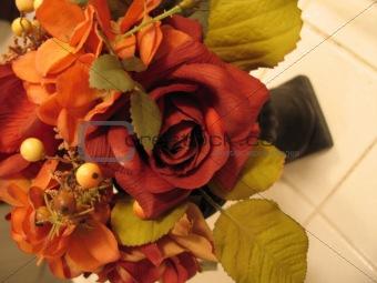 fake floral arrangement