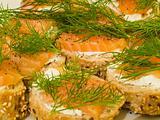 Smoked salmon bread